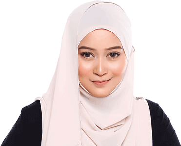 a girl wearing hijab smiling